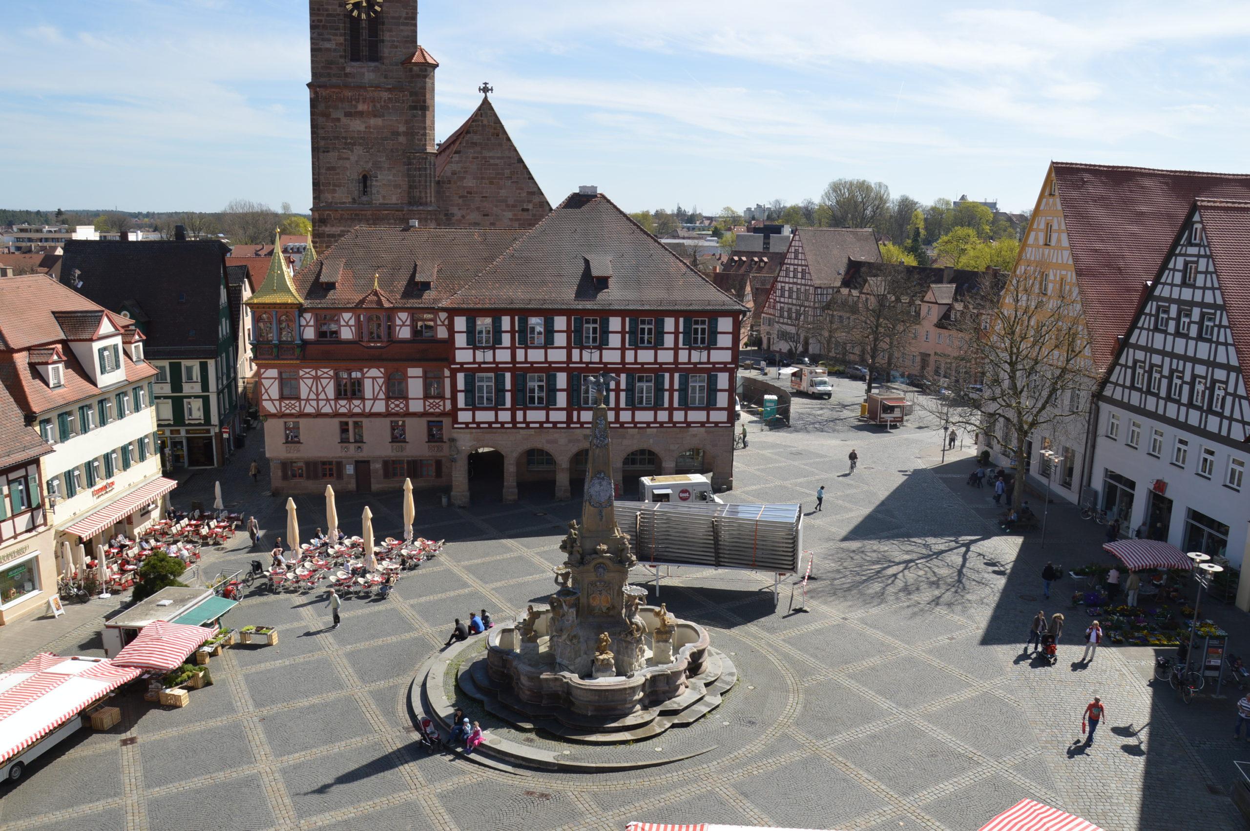 Schwabach_Königsplatz_von_oben
