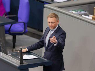 Christian Lindner im Bundestag