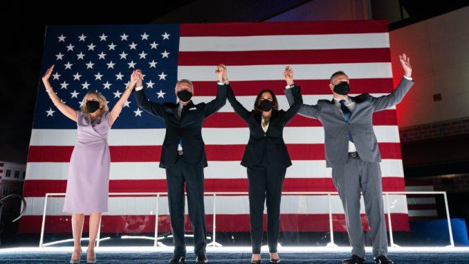 Joe Biden y Kamala Harris con socios - Foto: Twitter / JoeBiden