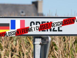 Collage: Grenze zwischen Frankreich und Deutschland