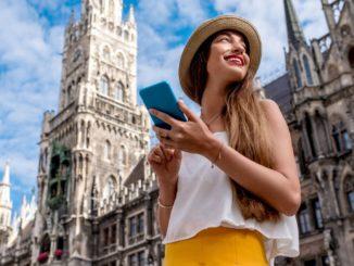 Touristin in München