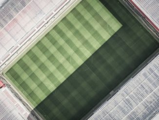 Fußballstadium aus der Vogelperspektive